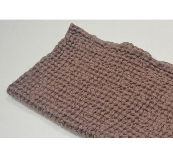 Полотенце льняное банное умягченное Зефир Шоколад