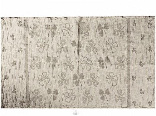 """Полотенце льняное банное умягченное """"Клевер"""" - 20С137"""