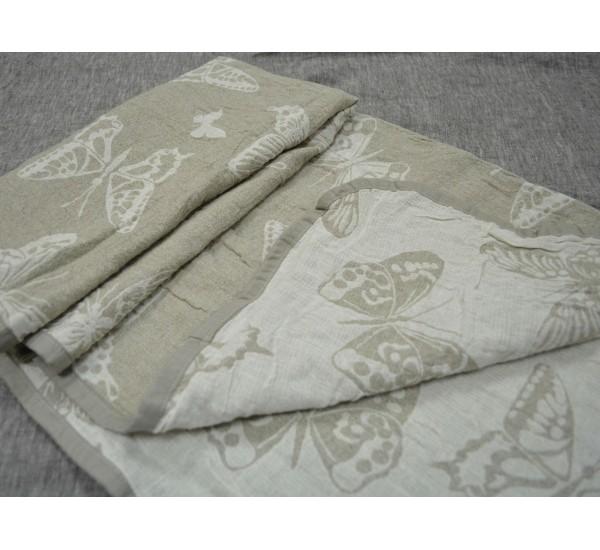 Полотенце льняное банное умягченное Баттерфляй