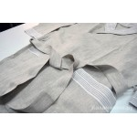 Халат для бани льняной Серый
