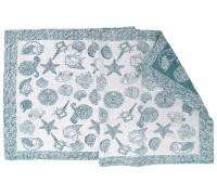 Полотенце льняное банное умягченное Море