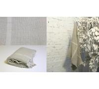 Полотенце льняное банное умягченное Волна