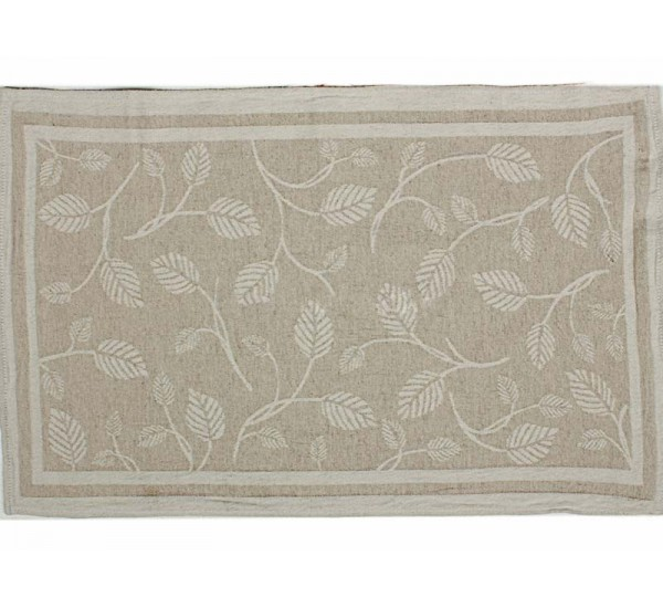 Полотенце льняное  умягченное Резные листья-2