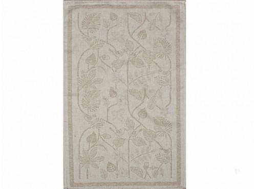 Полотенце льняное  умягченное Резные листья-1 - 20С130