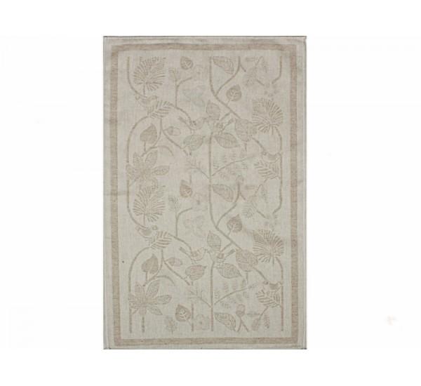 Полотенце льняное  умягченное Резные листья-1
