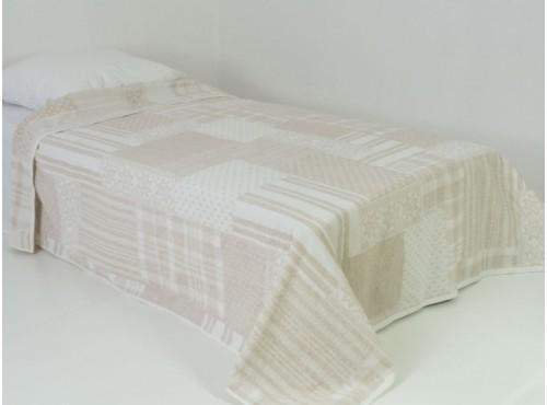 Простыня лен с хлопком махровая Аппликация - 6С101