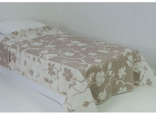Простыня лен с хлопком махровая Сакура - 6С101