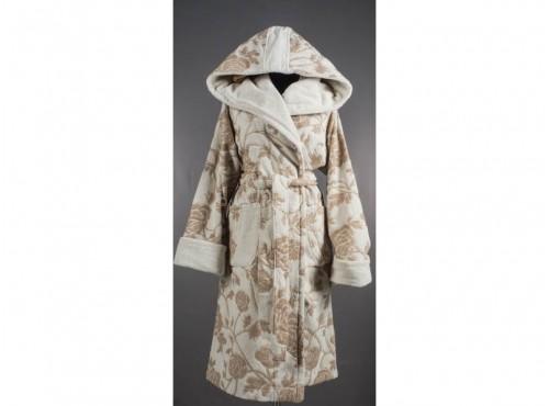 Халат лен с хлопком махровый Мода с капюшоном - 08с51