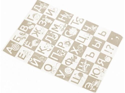 Простыня лен с хлопком махровая Алфавит