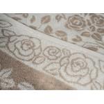 Простыня лен с хлопком махровая Розы в цвету - 6С101