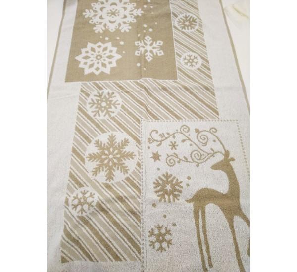 """Полотенце льняное махровое """"Christmas"""""""