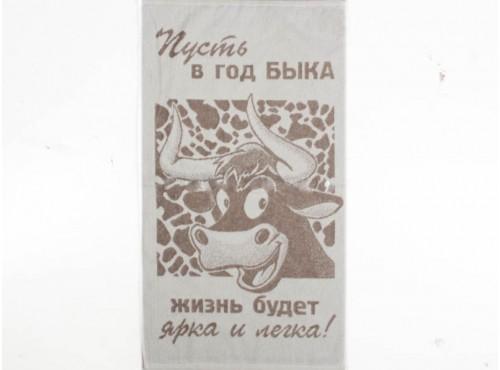 """Полотенце льняное махровое  """"Селфи""""  - 6С103"""