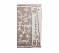 """Полотенце льняное махровое   """"Жирафики"""""""