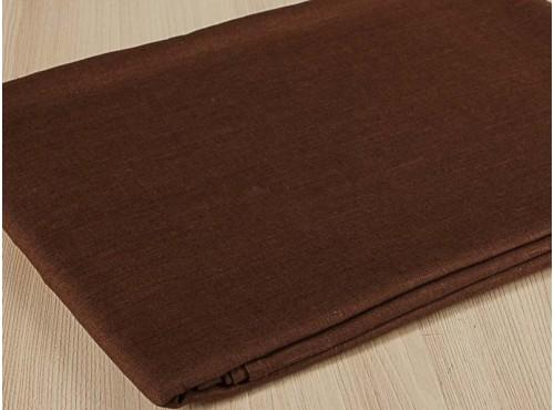 Простыня льняная темный шоколад - 15С337