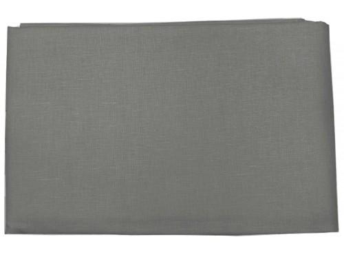 Пододеяльник  льняной темно-серый умягченный - 16С6