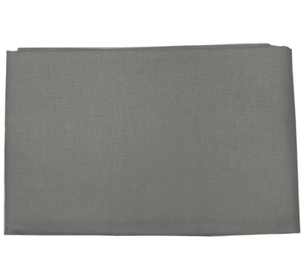 Пододеяльник  льняной темно-серый умягченный