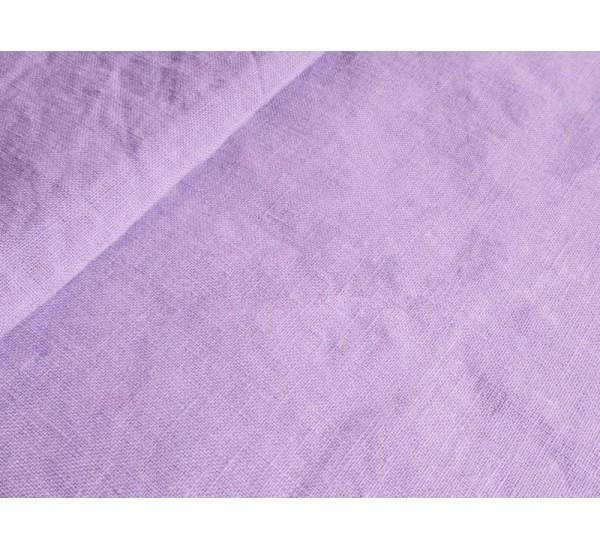 Пододеяльник  льняной умягченный цвет лаванда