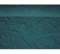 Простыня льняная цвет морская волна умягченная