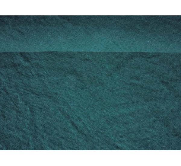 Пододеяльник  льняной умягченный цвет морская волна