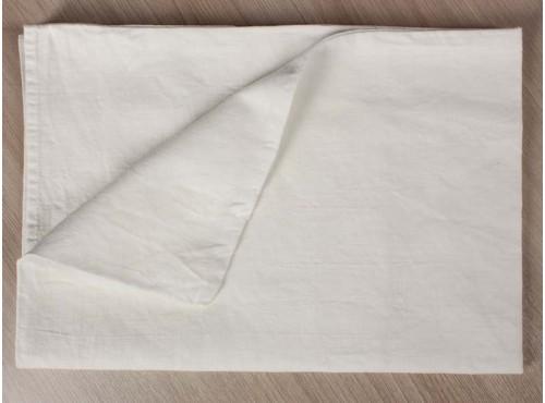 Наволочка льняная умягченная  Белая - 20с253
