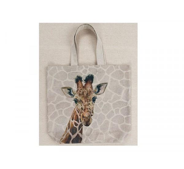 """Льняная сумка """"Жираф"""""""