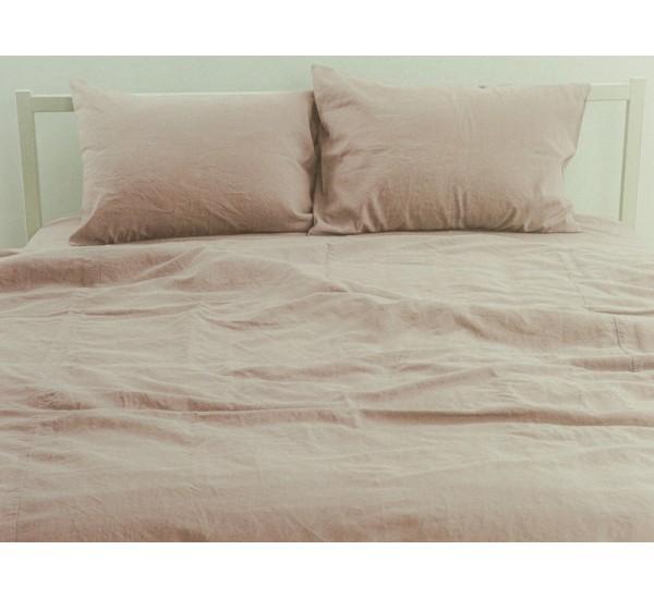 """Комплект умягченного постельного белья """"Бежевый"""""""
