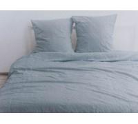 """Комплект умягченного постельного белья """"Цвет голубая ель"""""""